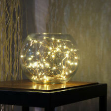 2M 20LED Button Cell Powered Silver Copper Wire Mini Fairy String Lights BG
