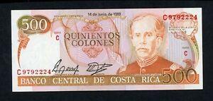 COSTA RICA 500 COLONES 1989  PICK # 255  VF.