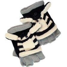 David & Young Critter Animal Gloves - Hand Flip Top Style - ZEBRA