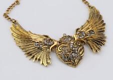 antiker Look Gold Halsband mit durchsichtigen Strass cg2096