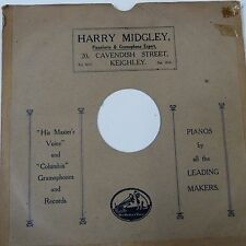 "12"" 78rpm gramophone record sleeve  HARRY MIDGLEY Cavendish Street Keighley"