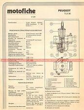 PEUGEOT TLX 80 1982 Fiche Technique Moto 000425