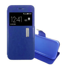 Funda Libro TAPA ALCATEL VODAFONE SPEED 6 Cuero Interior Gel Top Protect AZUL