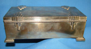 *VERY RARE CARTIER ART DECO STERLING SILVER CIGARETTE BOX - NO MONOGRAMS*