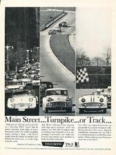 """1957 Triumph TR3 Road Hugging Original Print Ad 8.5 x 11/"""""""