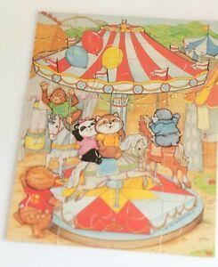 Vintage Shirt Tales Wood Puzzle  20 Pieces Milton Bradley COMPLETE 80s Kid toys