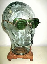 Antique Bausch and Lomb Green Safety Sunglasses Vintage Retro Ray Ban Steampunk