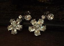 Vintage Butler & Wilson claro cristal flor y Pendientes Perforados