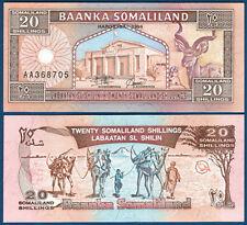 SOMALILAND 20 Shillings 1994 UNC  P.3a