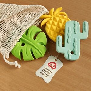 Natural rubber toys 3- Set Semilla (Pineapple, Leaf, Cactus) by Lanco