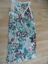 MAX MARA tolles Seidenkleid mit Unterkleid beige grün braun Gr. 42 w.NEU (ZC814)