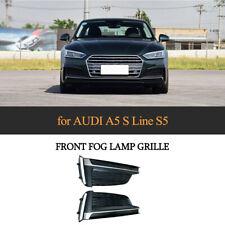 2PPCS Front Bumper Lower Fog Light Grille Trim Cover For Audi A5 S-Line S5 17-19
