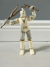 VTG WHITE BATTLE BORG POWER RANGERS Bandai 1995 WITH WEAPONS