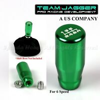 FOR MAZDA!M10 THREAD! USA WHITE 6-SPEED LONG METAL MANUAL GEAR SHIFT KNOB GREEN