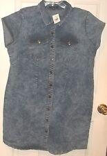 Womens Plus~NEW LOOK~DENIM DRESS~size 2X~NWT~Blue Jeans~Button Up