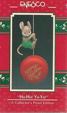 """Enesco    """"HO-HO, YO YO""""      Ornament    ***NEW*** Mouse"""