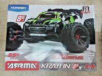 Arrma 1/5 Kraton 4X4 8S BLX Brushless Speed Monster Truck RTR Green 110002T1 New