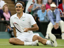"NWT Nike Federer ""RF"" Smash Lawn 2012 Wimbledon Tennis Polo Shirt 446909-100 S/L"