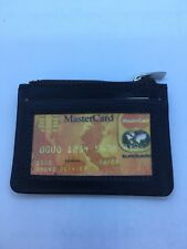 Credit Card/Key Holder Brown Genuine Leather Limited Quantity With id Window