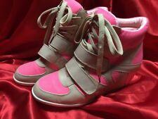Glaze Pink And Tan High Heel Gym Boots