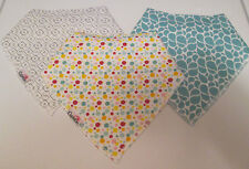 Cupidon Baby Bandana Drool Bibs With Snaps Unisex 3-pack Super Absorbent Organic