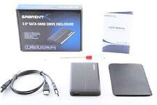 """Sabrent 2.5"""" SATA (Serial ATA) Hard Drive USB 2.0 Aluminum Enclosure EC-UST25"""