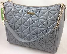 NEW Kate Spade Whitaker Place Aurelia Leather Shoulder Bag Handbag Purse Gray