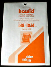 Hawid Stamp Mounts Size 148/105d CLEAR Background Pack of 10