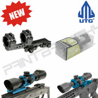 UTG Integral 30mm Offset QD Mount 2 Top Slots 100mm Base Top Picatinny Rail
