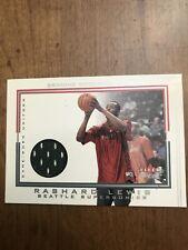 Rashard Lewis 2001-02 Fleer Genuine Game Worn Jersey Seattle Supersonics Card