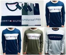 Tommy Hilfiger Men's Long Sleeve T-Shirt - White-Grey - Navy BNWT