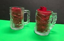 Batman and Robin Premiums McDonalds Carved Glass Mugs Riddler 3rd Movie