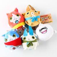 New Anime Yo-kai Watch Youkai Jibanyan Komasan Whisper Soft Plush Doll Toy 7cm