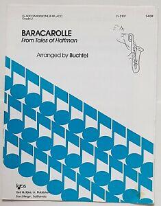 Buchtel: Baracarolle From Tales of Hoffman (Saxophone/Piano)