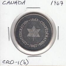 Canada 1967 silver Confederation medal