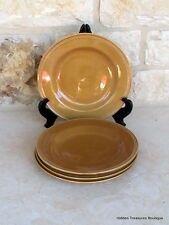 "Lucerne Foods Stoneware 4 Salad Plates Pumpkin Color 9 1/4"" NIB"