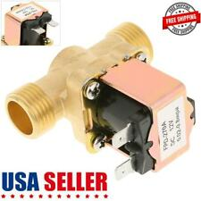 12v 12 Inch Dc Electric Solenoid Valve One Way Solenoid Brass Valve For Water