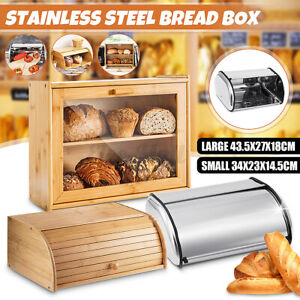 Set of 2 Bakery Containers Bread Box Made of Stainless Steel glanzed kinghoff KH-3201