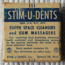 """Old Packet of """"Stim-U-Dents"""" Tooth Cleaners"""