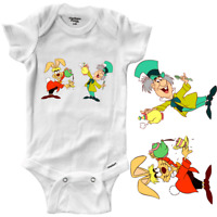 Infant Gerber Onesies Bodysuit Clothes Baby Cute Mad Hatter Tea Party Fun Disney