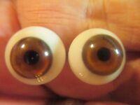 20 mm Hazle  Handblown Glass Eyes 9.5 mm  Iris  G27