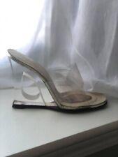 Vintage 1960s Lucite Cut Out Heels Shoes