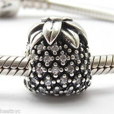 SPARKLING PINEAPPLE FRUIT CHARM Sterling Silver .925 for European Bracelets 687