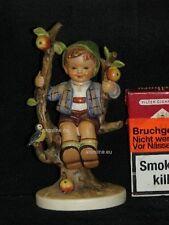 """Goebel Hummel 142/I """"Herbst"""", apple tree boy, Junge sitzt in Baum mit Vogel"""