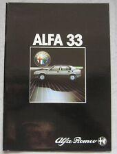 1985 Alfa Romeo 33 Brochure