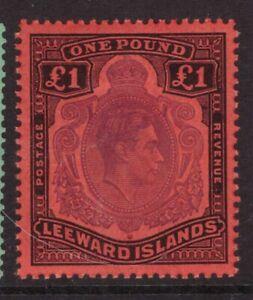 Leeward Islands 1938 King George VI £1 pound SG 114c  mounted mint