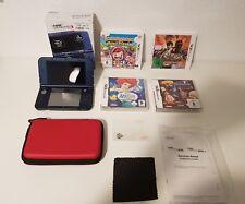 New Nintendo 3DS Xl Konsole in Metallic Blau  + Tasche + 4 Spiele