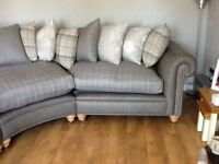 Made to measure chesterfield corner unit in leather or Laura Ashley fabric