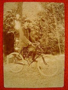 HERREN-FAHRRAD AUS FRANKREICH (?) - 1 uraltes großes Foto von 1900 (?)