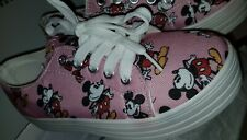 Girls Mickey Mouse Pink Canvas Pumps/Trainers/Shoes Infant Size 13 NEW